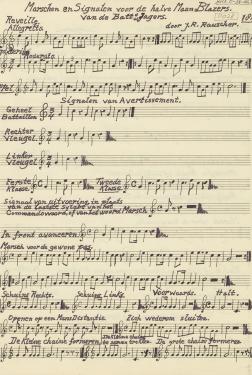 bladmuziek marsen en signalen halvemaanblazers